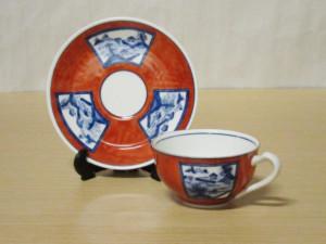赤濃山水 紅茶カップ&ソーサー
