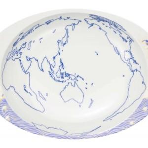 チェッカー・カレー皿