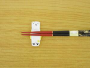 5色くま(黄) 箸置き