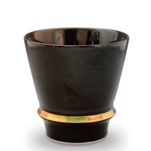 ハッピーリング(黒)・焼酎グラス