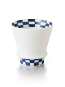 市松・焼酎グラス