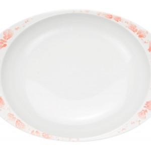 ローズ・カレー皿