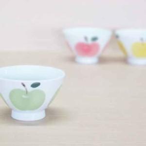 りんご(小・緑)・ご飯茶わん