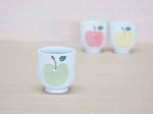 りんご(緑)・ゆのみ