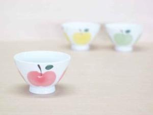 りんご(赤)・ご飯茶わん