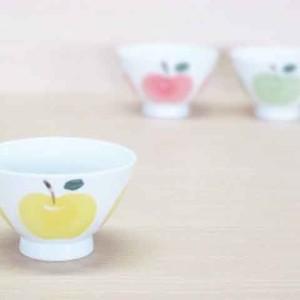 りんご(黄)・ご飯茶わん