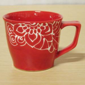 シノフラワー(赤) マグカップ