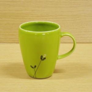 ロングフラワー(緑) マグカップ