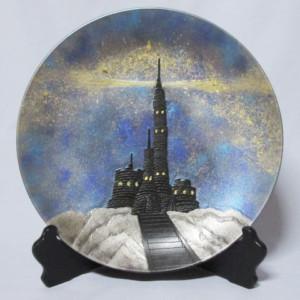 天の川銀河灯台飾り皿