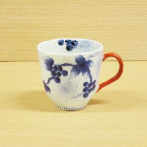 染錦和ぶどう(赤)・マグカップ