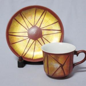 燦彩幾何文珈琲碗皿