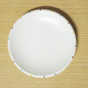 色絵渕点紋 イゲ皿(中)