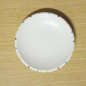 色絵渕点紋 イゲ皿(小)