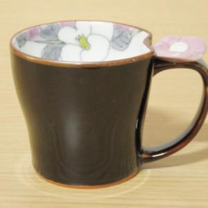 花絵蒔(紫) マグカップ