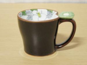 花絵蒔(緑) マグカップ