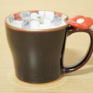 花絵蒔(赤) マグカップ