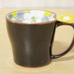 花絵蒔(黄) マグカップ