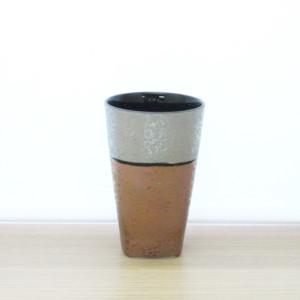 銀銅角高台フリーカップ