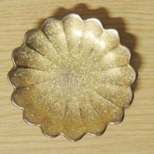 黒柚子金塗り 菊型手塩皿