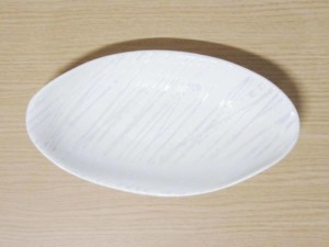 樹氷 ナブリ小判焼皿