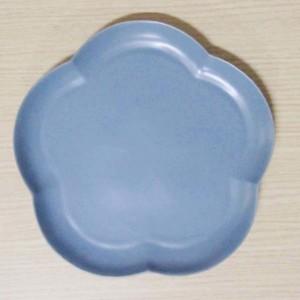 フロール アプリコットプレート(L) イブニングブルー