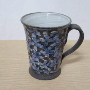 黒土桜(青) マグカップ