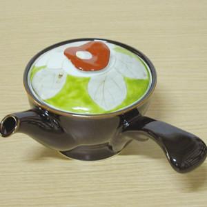 彩椿(緑赤) 急須
