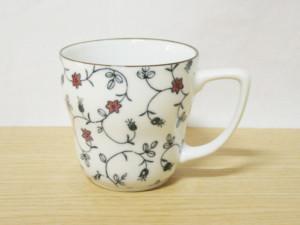 ベルフラワー(赤) 銅版マグカップ