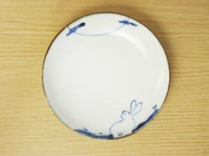 うさぎのお月見 5.5寸皿