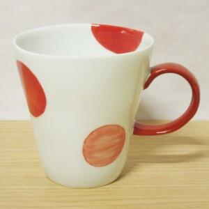 二色丸紋(赤) マグカップ