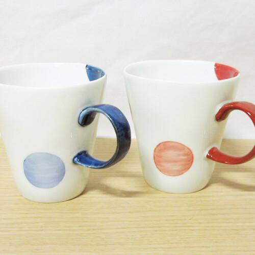 二色丸紋 マグカップ