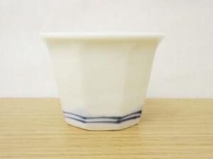 白マット草花紋 盃 形状