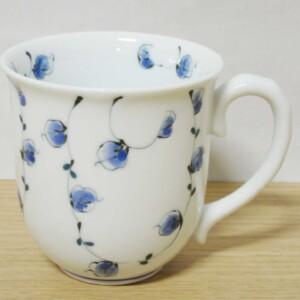 唐草紋(青) マグカップ1