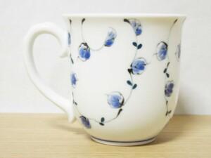 唐草紋(青) マグカップ2