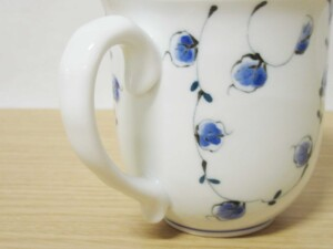唐草紋(青) マグカップ7