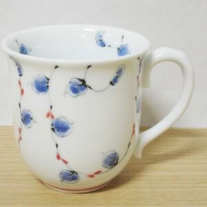 唐草紋(赤) マグカップ1