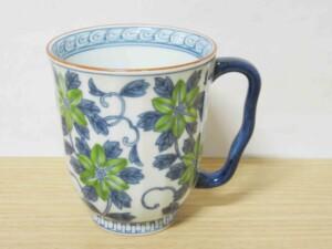 染錦鉄線花(緑) マグカップ1