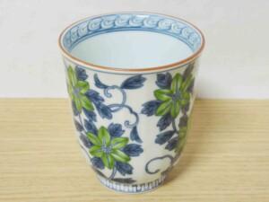 染錦鉄線花(緑) マグカップ9