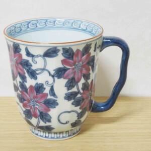 染錦鉄線花(紫) マグカップ1