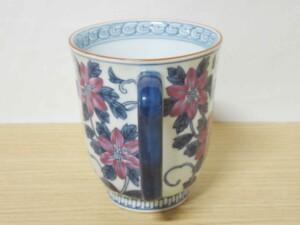 染錦鉄線花(紫) マグカップ8