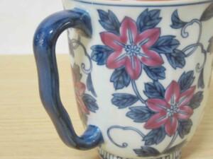 染錦鉄線花(紫) マグカップ7