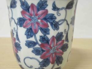 染錦鉄線花(紫) マグカップ10