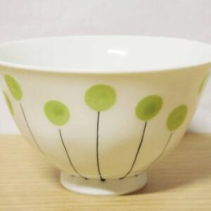 アリュウム 面取ご飯茶わん(大・緑)1