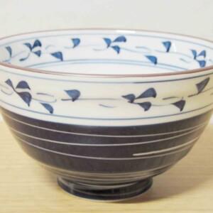 スーパー唐草 ご飯茶わん(大・青)1