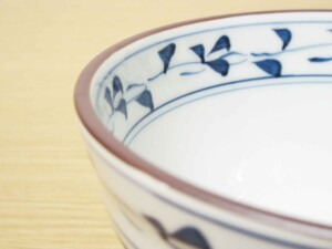 スーパー唐草 ご飯茶わん(大・青)6