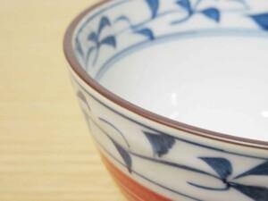 スーパー唐草 ご飯茶わん(小・赤)6
