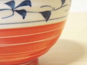 スーパー唐草 ご飯茶わん(小・赤)8