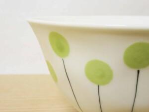 アリュウム 面取ご飯茶わん(大・緑)8