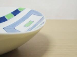 色絵升 楕円大鉢9