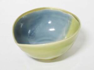 青藍釉掛分 片口小鉢1